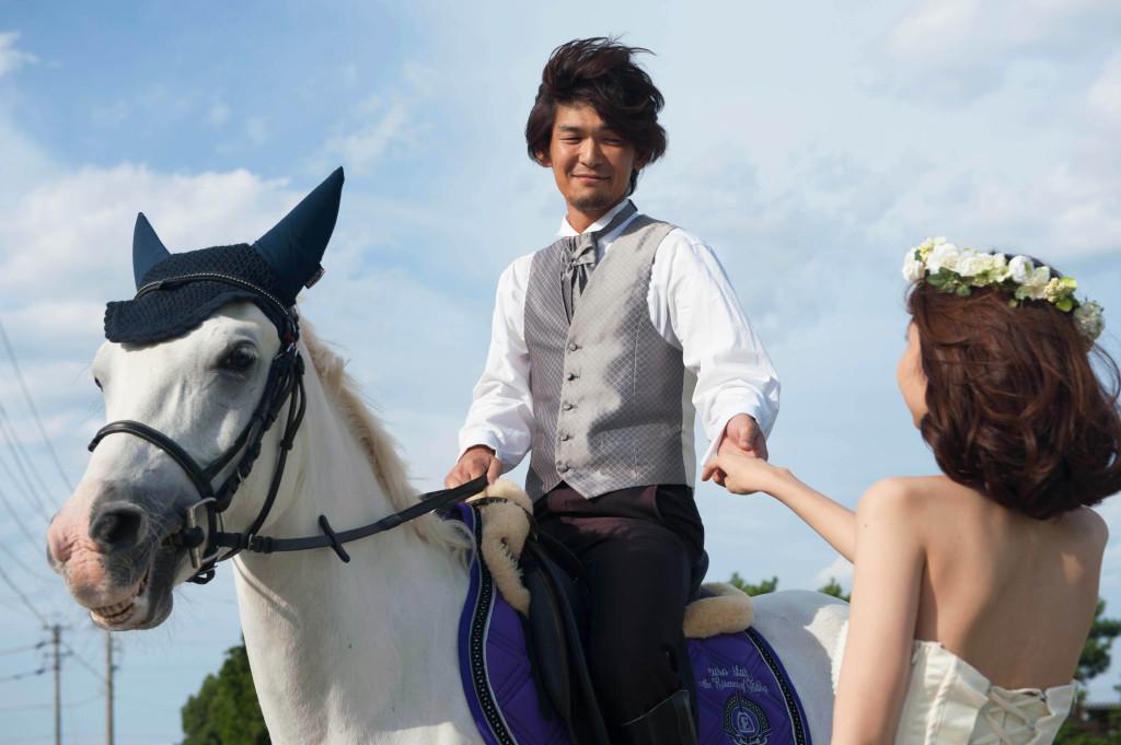 白馬と前撮り